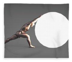 Sisyphus Lamp 06 Fleece Blanket