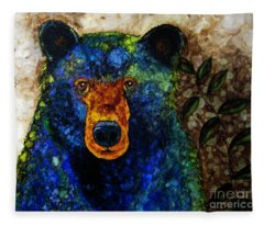 Sitting And Waiting Fleece Blanket