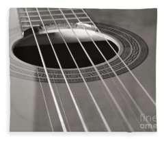 Six Guitar Strings Fleece Blanket
