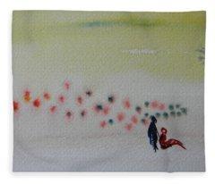 Six Seasons Dance Four Fleece Blanket