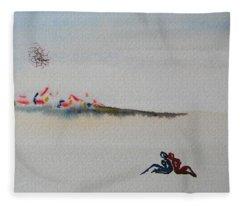 Six Seasons Dance One Fleece Blanket