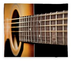 Six String Guitar Fleece Blanket