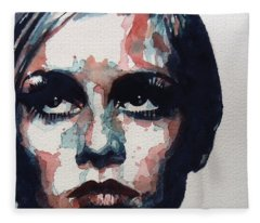Sixties Sixties Sixties Twiggy Fleece Blanket