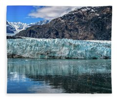 Size Perspective No Margerie Glacier Fleece Blanket