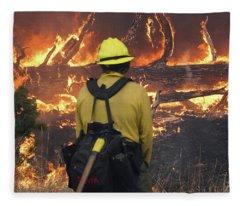 Legion Lake Fire Fleece Blanket