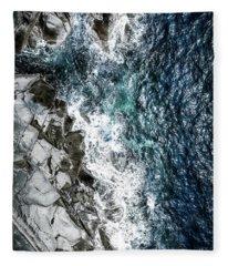 Skagerrak Coastline - Aerial Photography Fleece Blanket