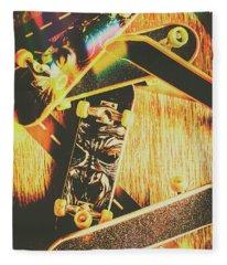 Skateboarding Tricks And Flips Fleece Blanket