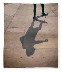 Skater Boy 002 Fleece Blanket