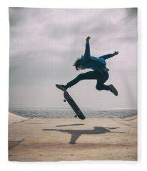 Skater Boy 003 Fleece Blanket