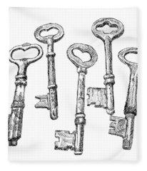 Skeleton Keys Fleece Blanket