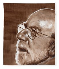 Sketch Of Bill Fleece Blanket