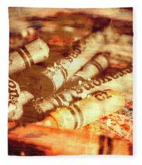 Sketchy Old Fine Art Palette Fleece Blanket