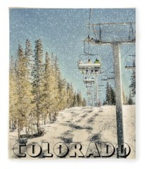Ski Colorado Fleece Blanket