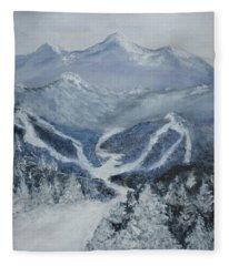 Ski Resort Fleece Blanket