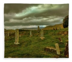 Skies And Headstones #g9 Fleece Blanket