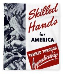Skilled Hands For America Fleece Blanket