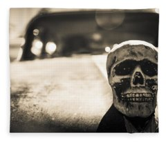 Skull Car Fleece Blanket