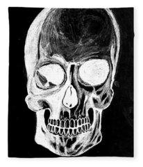 Skull Study 3 Fleece Blanket