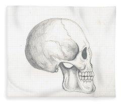 Skull Study Fleece Blanket