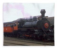 Skunk Train No 45 Fort Bragg California Fleece Blanket