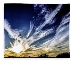 Sky Artistry Over Chandler Arizona Fleece Blanket