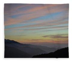 Sky Haze Fleece Blanket