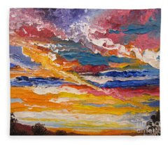 Sky In The Morning.             Sailor Take Warning  Fleece Blanket