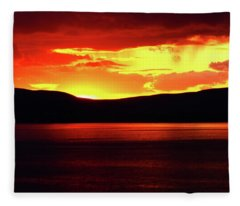 Sky Of Fire Fleece Blanket