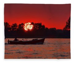 Sky On Fire Fleece Blanket