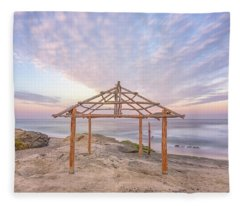 Sky Over The Shack Fleece Blanket