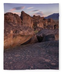 Sky Rock, Dusk Fleece Blanket