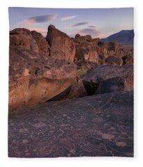 Sky Rock, Dusk Fleece Blanket