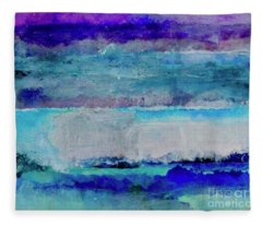 Sky Striations Fleece Blanket