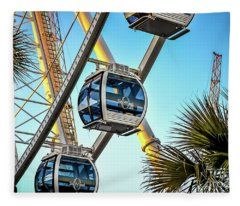 Sky Wheel Sunset Fleece Blanket