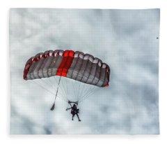 Skydive Is Coming For Landing Fleece Blanket