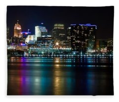 Skyline At Night Fleece Blanket