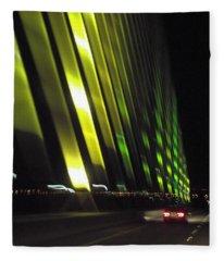 Skyway At Night 5559 Fleece Blanket