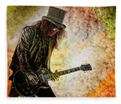 Slash - Guitarist Fleece Blanket