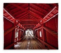 Slaughterhouse Red Fleece Blanket