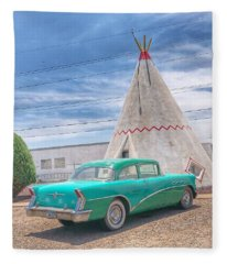 Sleep In A Wigwam Fleece Blanket