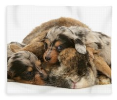 Sleep In Camouflage Fleece Blanket