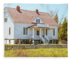Sleeping Bear Dunes Coast Guard Station Fleece Blanket