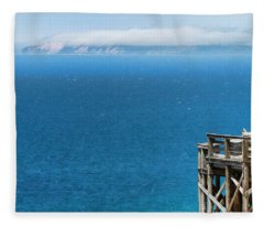 Sleeping Bear Dunes Overlook In Summer Fleece Blanket