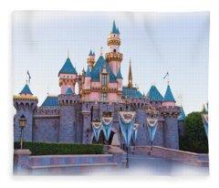 Sleeping Beauty's Castle Disneyland Fleece Blanket