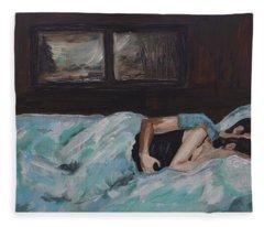 Sleeping In Fleece Blanket