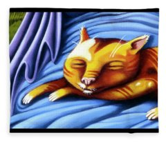 Sleeping Kitty Fleece Blanket
