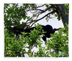 Sleeping Monkey Fleece Blanket