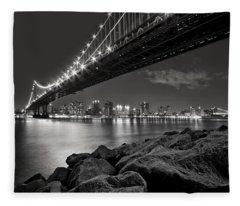 Sleepless Nights And City Lights Fleece Blanket