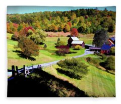 Sleepy Hallow Farm, Woodstock, Vermont Fleece Blanket