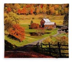 Sleepy Hollow - Pomfret Vermont-2 Fleece Blanket